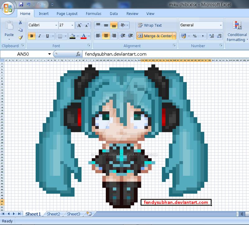 Excel Pixel Art Forzambiconsultingltdcom