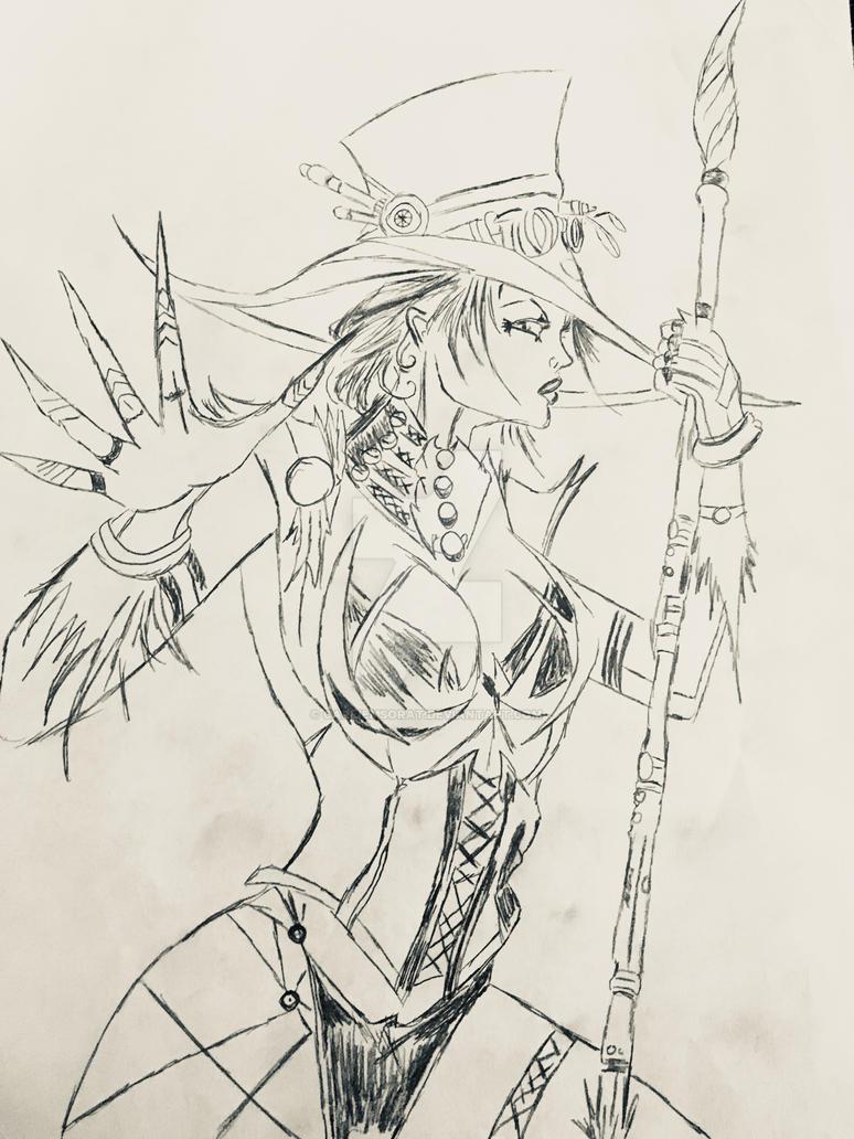 Steampunk Witch by CarlieMSorat