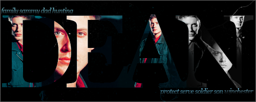 dean winchester typography 3 by SavingMel