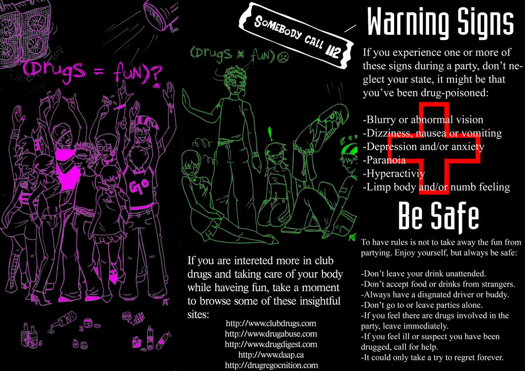 Deviantart coloring clubs - Anti Club Drugs Outer Side By Tuqann