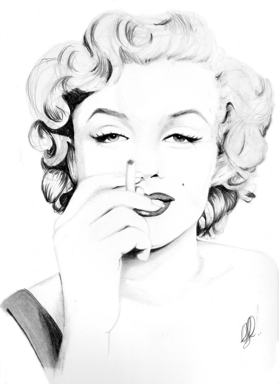 Marilyn monroe by Carriejanesart on DeviantArt