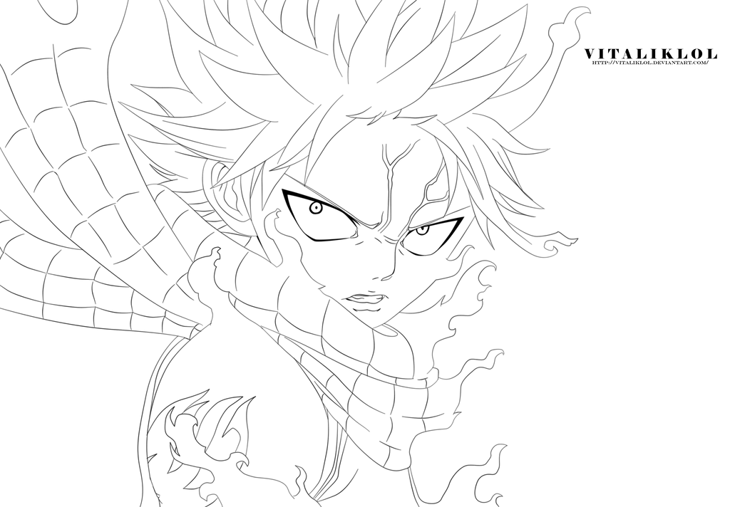 Natsu Lineart : Natsu dragneel lineart by allanwade on deviantart