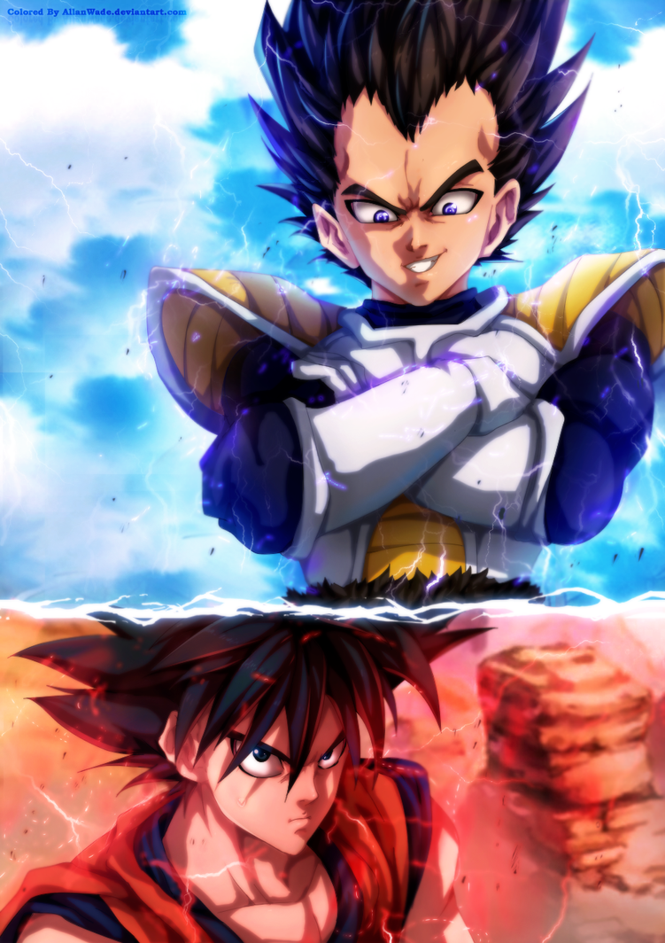 Goku Vs Vegeta In One-Punch Man Style by AllanWade