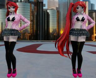 MMD X SCREAM QUEENS Chanel#4 Comparison by YumiNaoChan