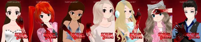 MMD X SCREAM QUEENS Posters I Made So Far by YumiNaoChan
