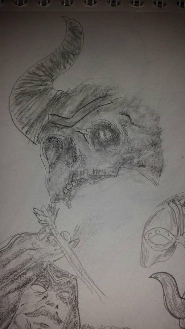 Skull Doodle by Ghostdogcs