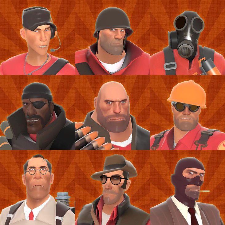 TF2 avatars by adamayo
