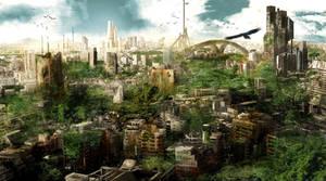 Post apocalyptic City by matty17art