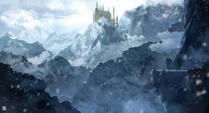 Icy castle by matty17art