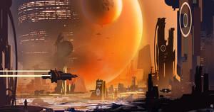 Sci-fi City concept by matty17art