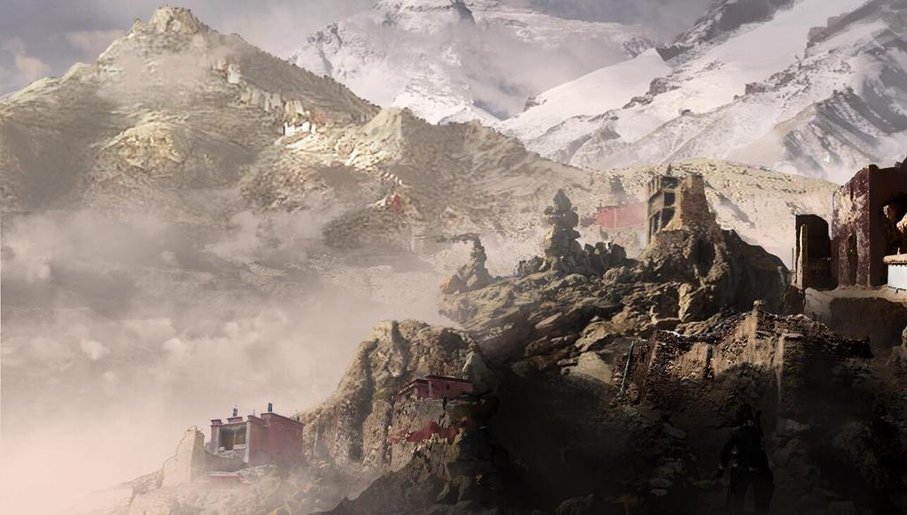 Tomb raider 2 remake Tibet concept. by matty17art