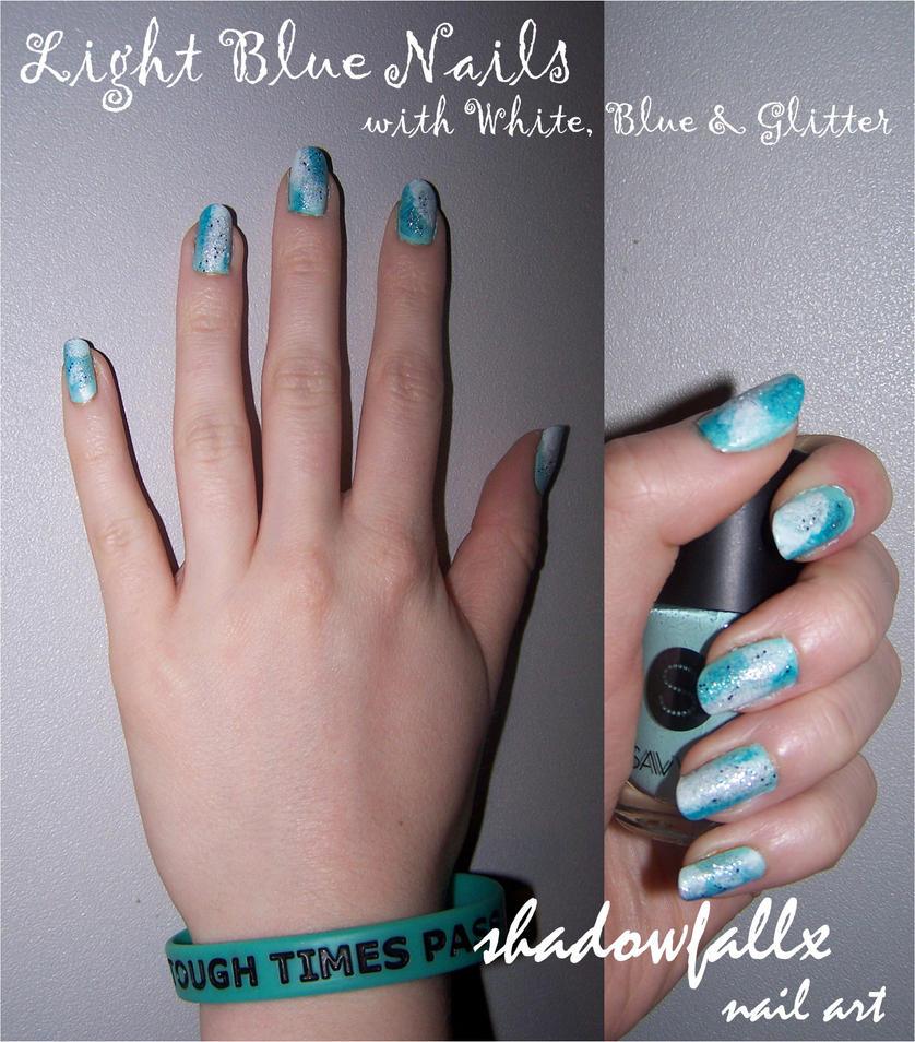 Light Blue Nails By Shadowfallx On DeviantArt