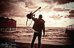 guitar at the sea by CaroFiresoul