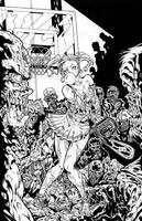 Zombies vs Cheerleaders-Campos by eltoromuerto