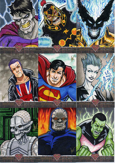 Superman-Legends Worthington sketch cards by eltoromuerto
