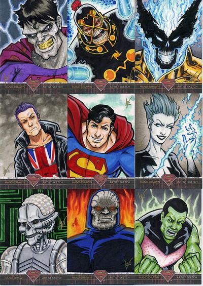 Superman-Legends Worthington sketch cards by eltoromuerto