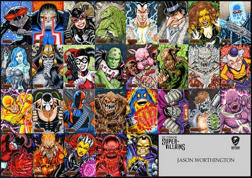DC Comics Super-Villain sketch cards