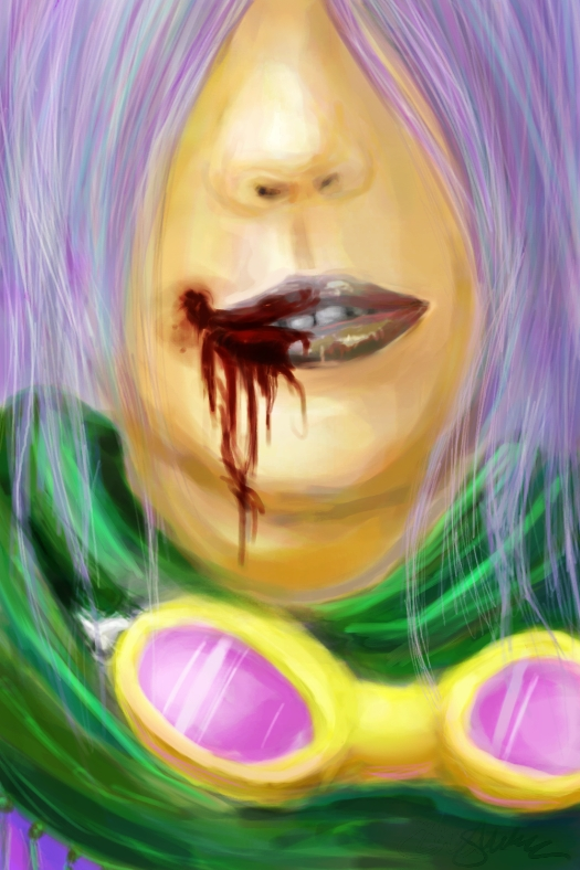 lips.goggles.scarf.blood. by Flutterby727