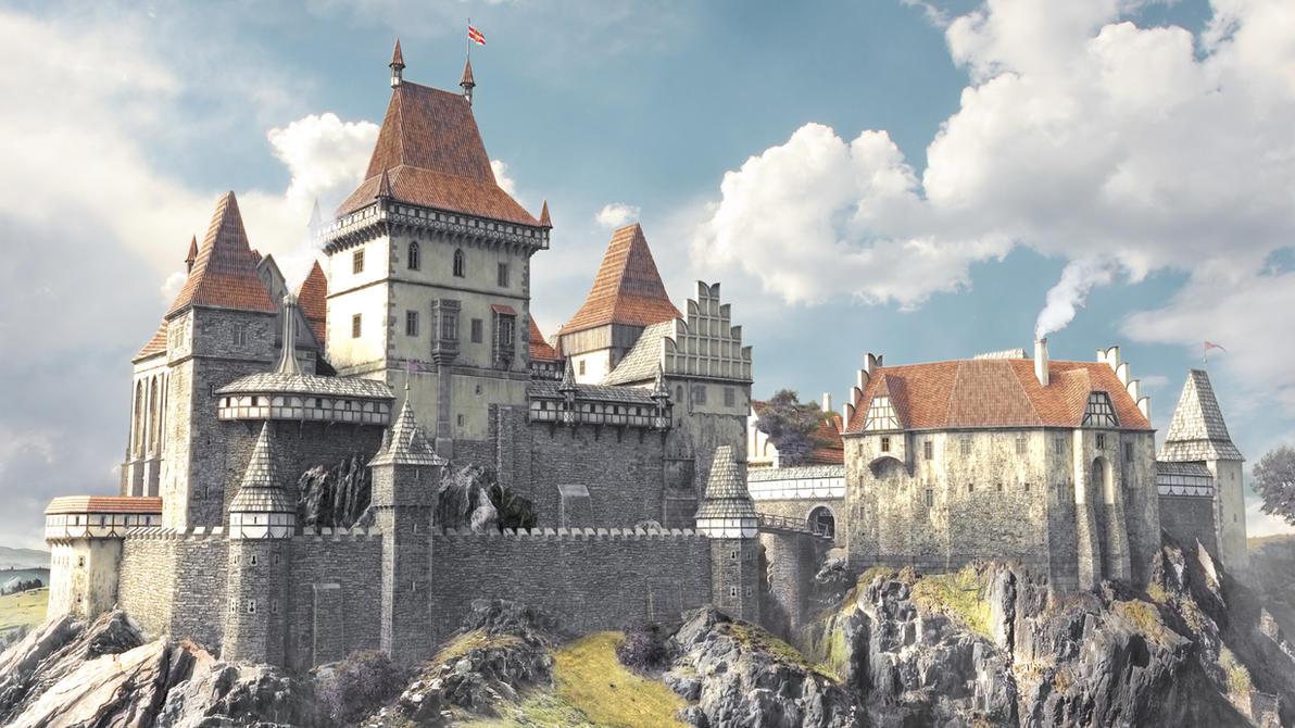 3D castle by Montezuma-original