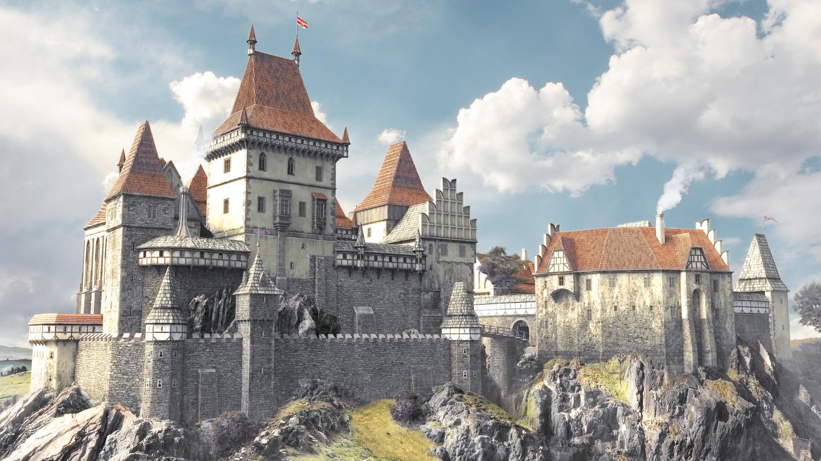 3d castle by montezuma original on deviantart for Castle design software