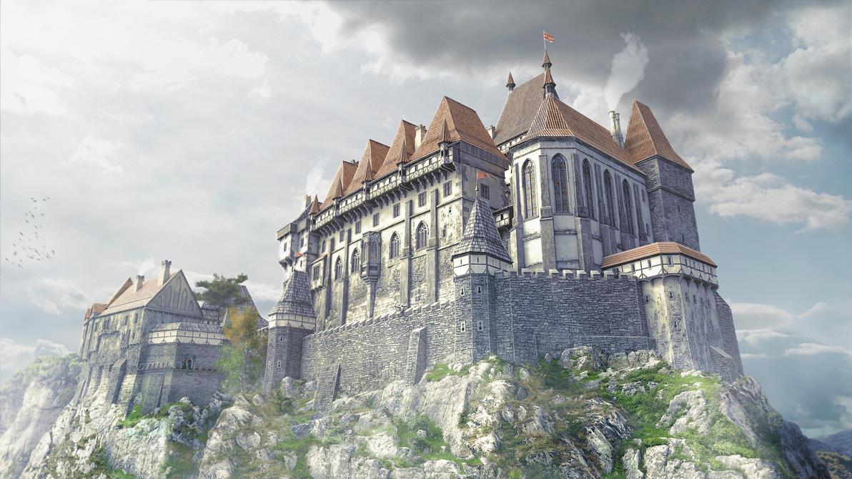 3d castle royal palace by montezuma original on deviantart. Black Bedroom Furniture Sets. Home Design Ideas
