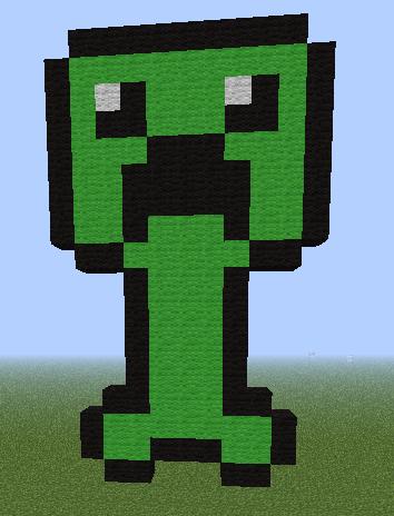 pixel art creeper