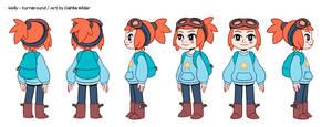 Molly - Turnaround (original character) by DahliaWilder