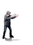 16bit Sprite: Shotgun Thug by tv16bit