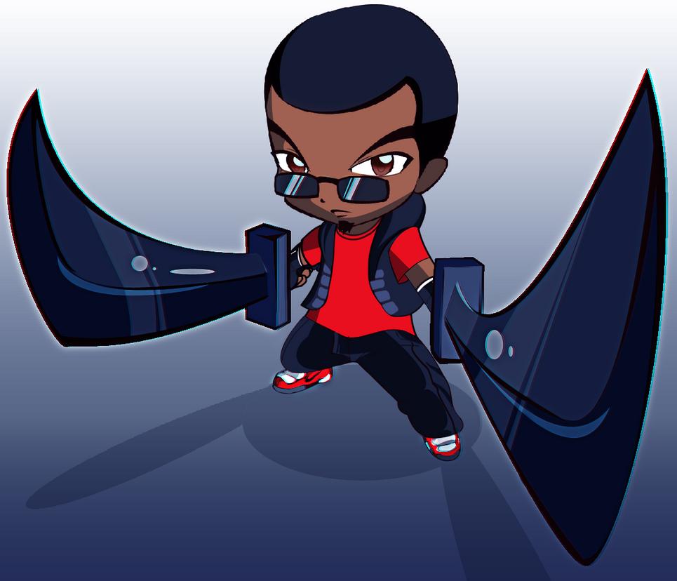 Chibi Senahue Swords Drawn by tv16bit