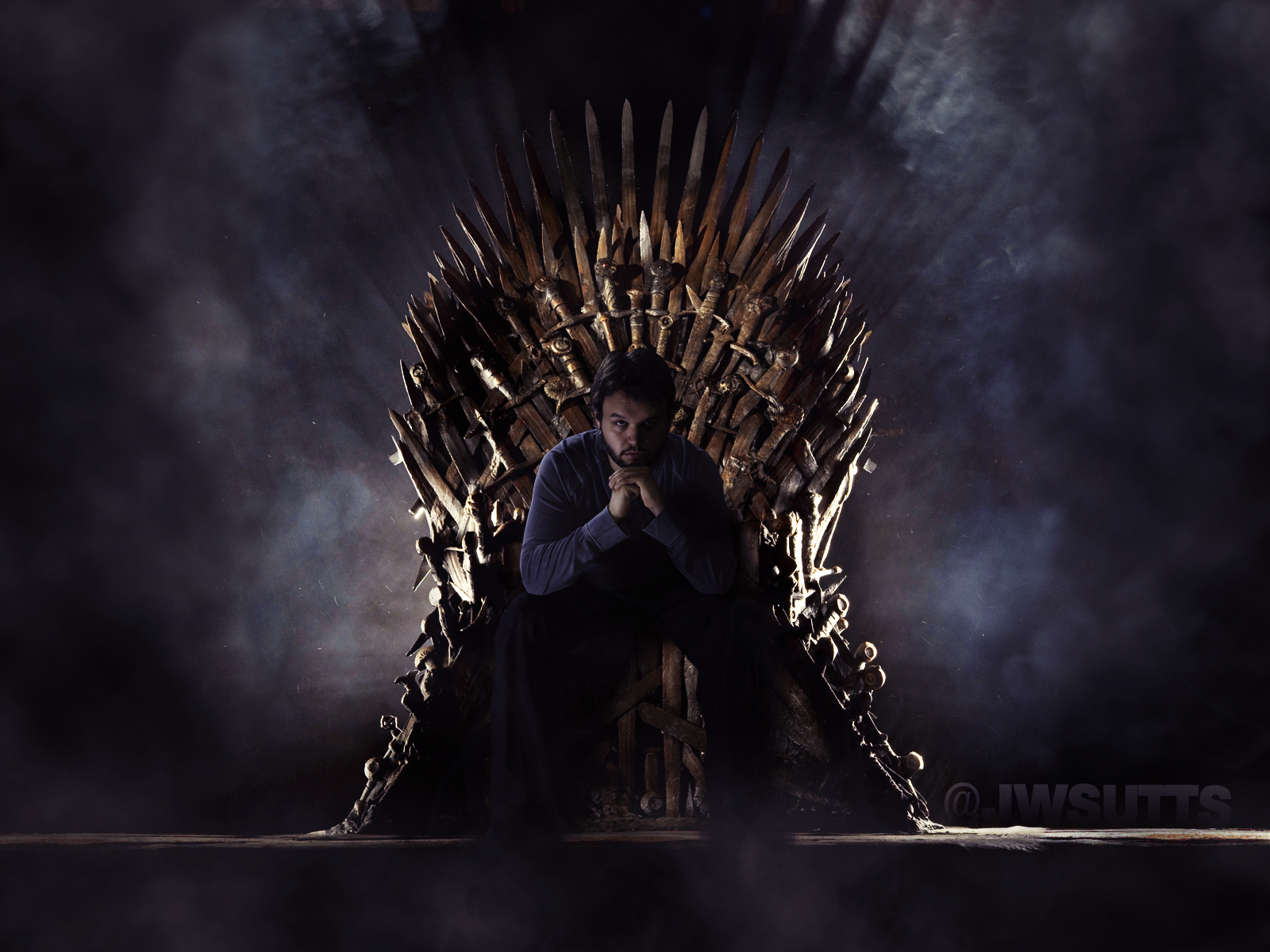 The iron throne is mine by jwsutts on deviantart for Iron throne painting