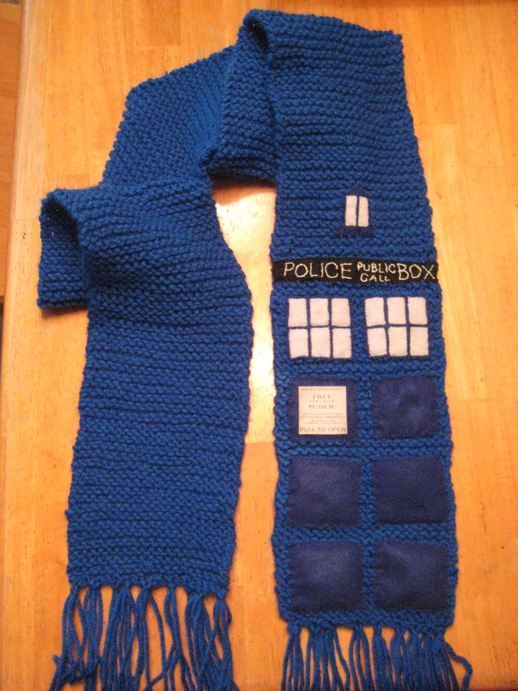 Free Knitting Pattern For Dr Who Scarf : Doctor Who Tardis Scarf by PrinceJillian on DeviantArt