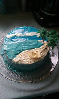 Welcome home from vacation cake