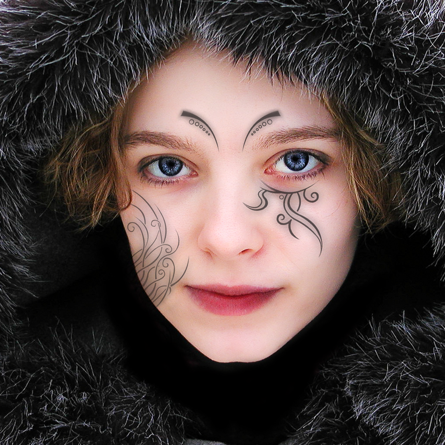 Women Face Tattoo By Mertime On DeviantArt