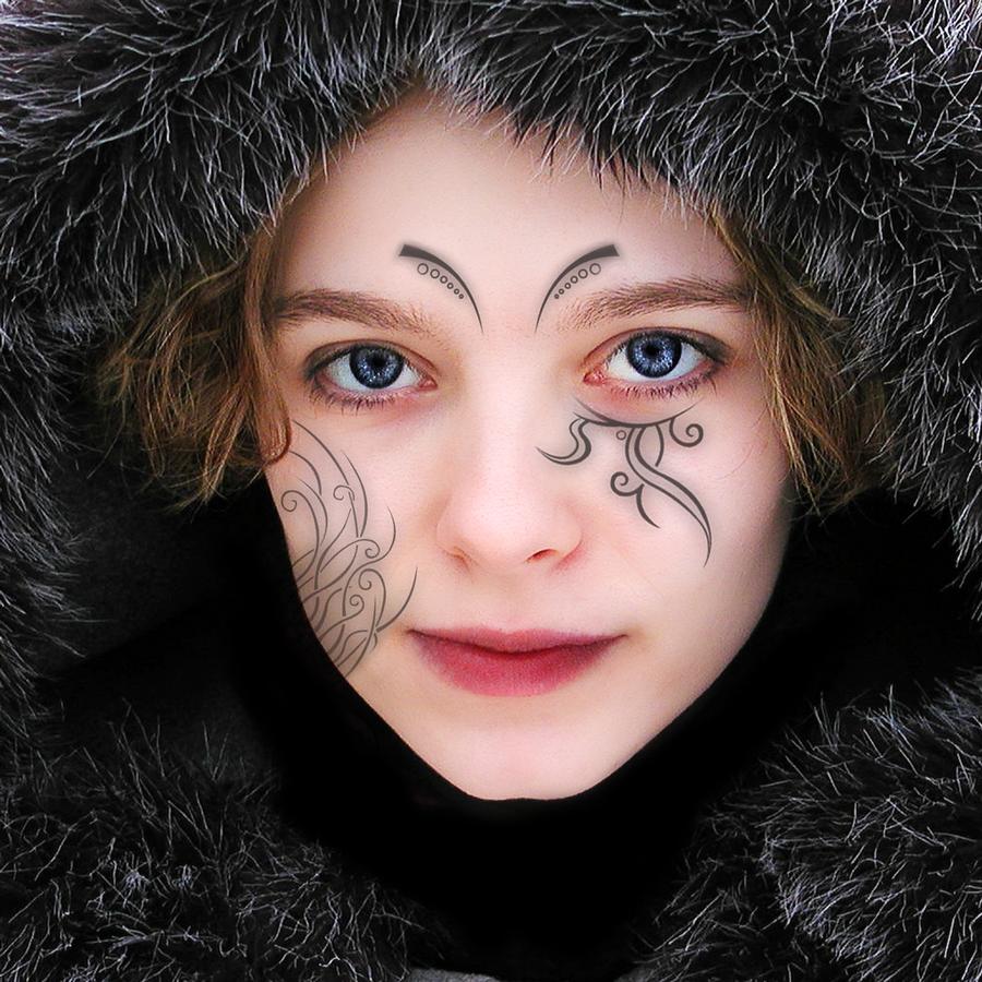 Tattoo Woman Face: Women Face Tattoo By Mertime On DeviantArt