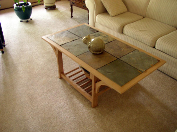 Wood and stone coffee table by somedumbgeek on deviantart for Stone and wood coffee table