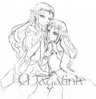 Elvyn and Zelda - Doodle by MrsMagalink