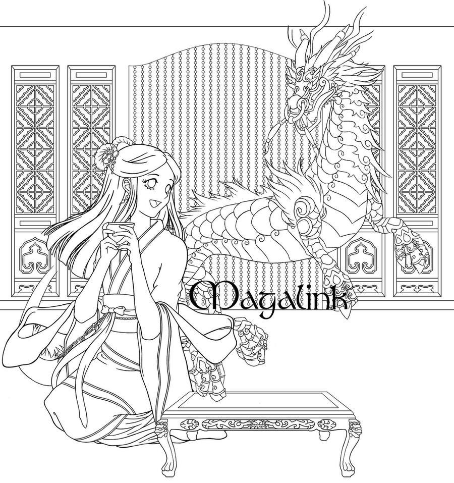 CHA-llenge! - Line Art by Maga-Link