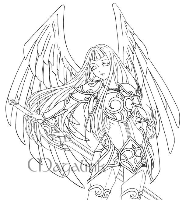 Line Drawing Angel : Guardian angel line art by mrsmagalink on deviantart