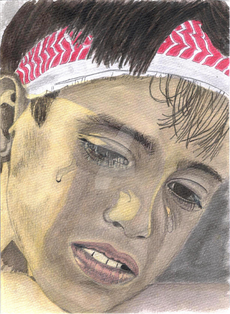 palestinian cry - Gaza by LouiseOdier