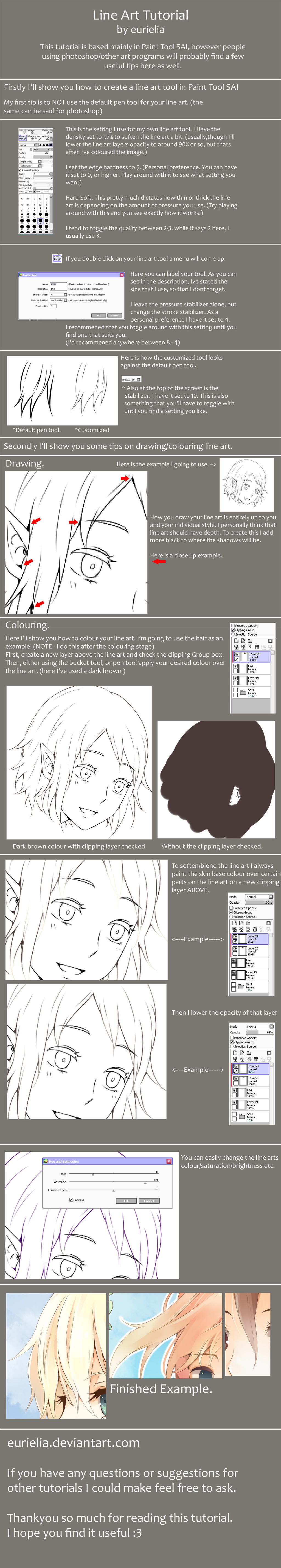 Lineart tutorial by Miss-Ariellia