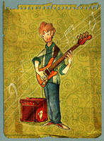 Leo and the bass by leocartunista