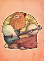 Bass man by leocartunista