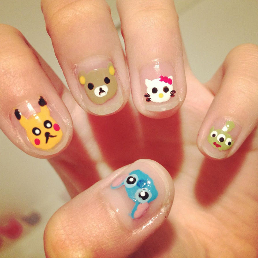 Cartoon Nails By Cloudy Days95 On Deviantart