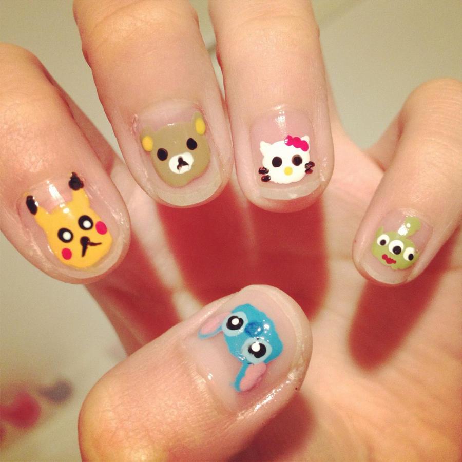 nail art cartoon images - nail art and nail design ideas