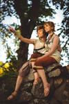 Zelda Twilight Princess - Link and Ilia at sunset