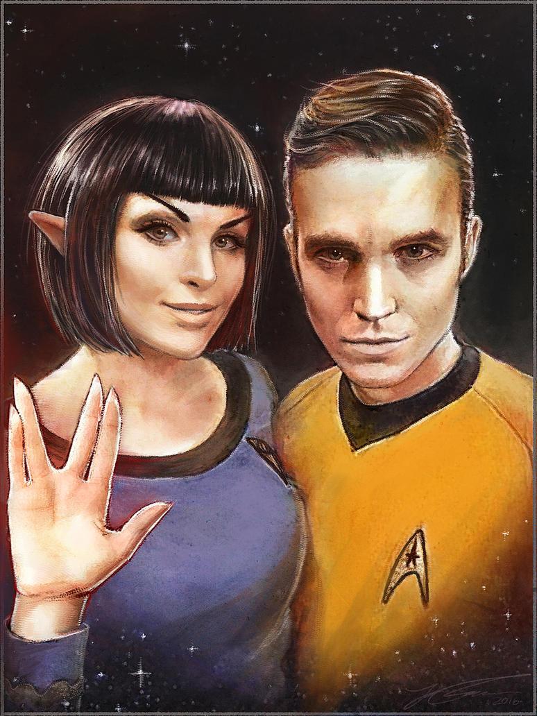 StarTrek-Cosplay-Spock-Kirk-Portrait2 by UltraCosplay