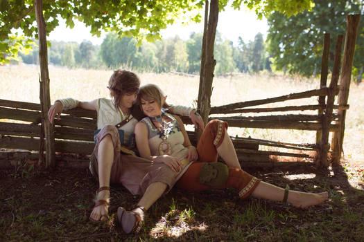 Zelda Twilight Princess - Link and Ilia cosplay