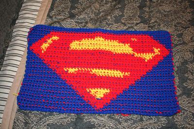 Superman logo in crochet by phoenixcrochet on DeviantArt