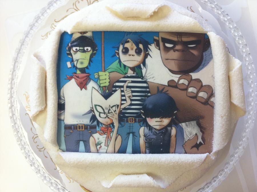 Gorillaz cake by Friwil