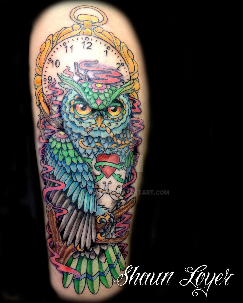 Owl Color Tattoo By DBASHAUN On DeviantArt